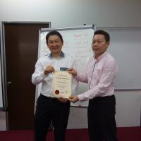 Certificate giveaway session for Centralized Training